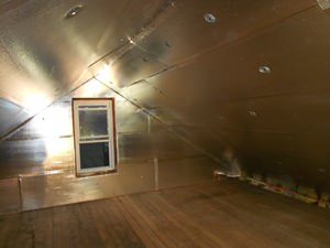 A Gainesville attic with SuperAttic installed.